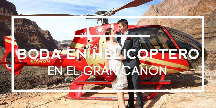 Una boda en helicóptero sobrevolando Las Vegas y el Gran Cañón