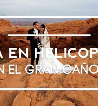 boda en helicoptero gran cañon