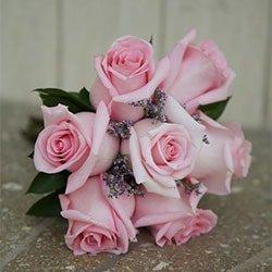 bouquet de siete rosas